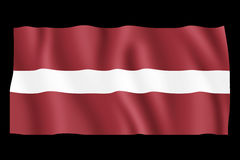 Flag of Latvia Stock Image
