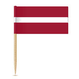 Flag of Latvia. Flag toothpick 10eps Royalty Free Stock Image