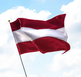 Flag of Latvia Stock Photo