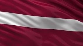 Flag of Latvia - seamless loop stock video