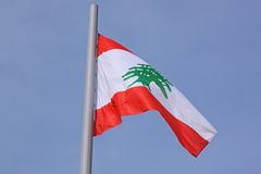 Flag of Lebanon Stock Image
