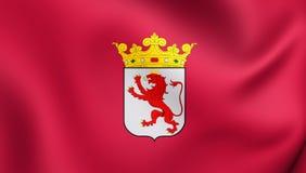 Flag of Leon Province, Spain. Royalty Free Stock Photos