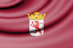 Flag of Leon Province, Spain. Stock Photography