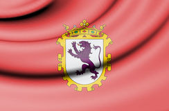 Flag of Leon, Spain. Royalty Free Stock Photography