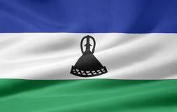 Flag of Lesotho. Very large version of a mosotho flag Royalty Free Stock Photo