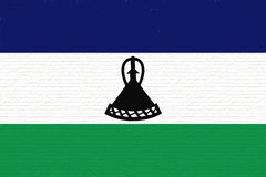 Flag of Lesotho Wall. Stock Photography