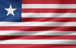 Flag of Liberia. Very large version of a liberian flag Stock Image