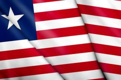 Flag of Liberia. This is an illustration of folded flag Royalty Free Stock Photography