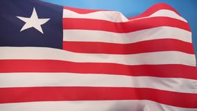 Flag of Liberia - Flag of Convenience Royalty Free Stock Images