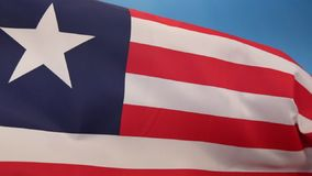 Flag of Liberia - Flag of Convenience stock video footage