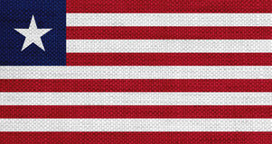 Flag of Liberia on old linen Stock Photography