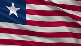 Flag of Liberia - seamless loop royalty free illustration