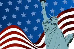 Flag of liberty Stock Photos