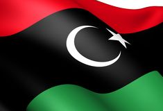 Flag of Libya Stock Photos