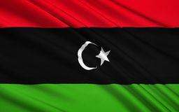 Flag of Libya - North Africa. Flag of Libya - originally introduced in 1951. It fell out of use in 1969, but was subsequently adopted by the National royalty free illustration