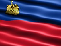 Flag of Liechtenstein Stock Photo