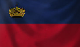 Flag of Liechtenstein. Royalty Free Stock Images