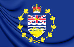 Flag of Lieutenant-Governor of British Columbia, Canada. 3D Illustration. Stock Photo