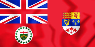 Flag_of_the_Lieutenant_Governor_of_Ontario_& x28; 1959-1965& x29; 免版税库存图片