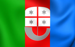 Flag of Liguria Region, Italy. Stock Photos