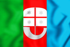 Flag of Liguria Region, Italy. Royalty Free Stock Photo