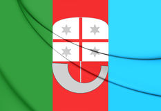 Flag of Liguria Region, Italy. Royalty Free Stock Photos