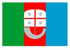 Flag of Liguria. Flag of Regione Liguria Italy Europe. Vector Format Aviable Stock Photo