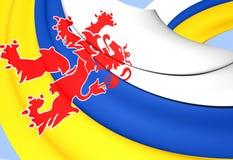 Flag of Limburg, Netherlands. Stock Photo