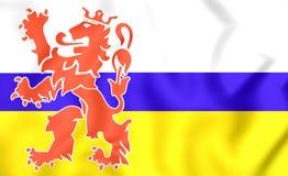 Flag of Limburg, Netherlands. Royalty Free Stock Image