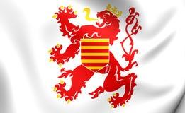 Flag of Limburg Province, Belgium. 3D Flag of Limburg Province, Belgium. Close Up Stock Photos