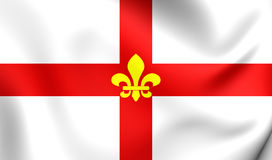 Flag of Lincoln City Lincolnshire, England. Stock Photography