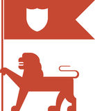 Flag lion Royalty Free Stock Image