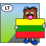 The Flag of Lithuania Stock Photo