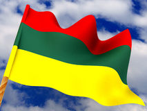 Flag. Lithuania. 3d Royalty Free Stock Photo