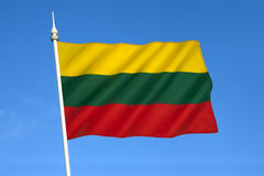 Flag of Lithuania - Baltic States Royalty Free Stock Image