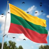 Flag of Lithuania. This is a computer generated and 3d rendered image Royalty Free Stock Photos