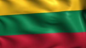 Flag of Lithuania (loop) stock video