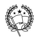Flag location mark icon Royalty Free Stock Photography