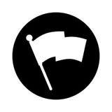 Flag location mark icon Stock Photo