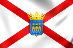 Flag of Logrono City La Rioja, Spain. 3D Flag of Logrono City La Rioja, Spain. Close Up Royalty Free Stock Photography