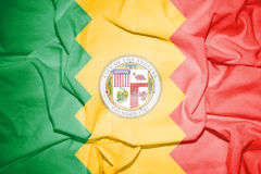 Flag of Los Angeles, USA. 3d Rendered Flag of Los Angeles, USA Stock Photos