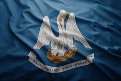 Flag of Louisiana state. Waving colorful Louisiana state flag Royalty Free Stock Image