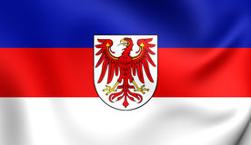 Flag of Lower Sorbian Language Stock Image