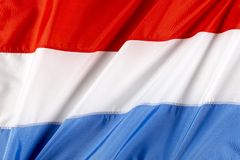 Flag of Luxembourg. Close up shot of flag of Luxembourg Royalty Free Stock Image