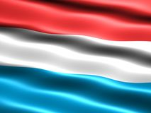 Flag of Luxembourg. Computer generated illustration of the flag of Luxembourg with silky appearance and waves Royalty Free Stock Image