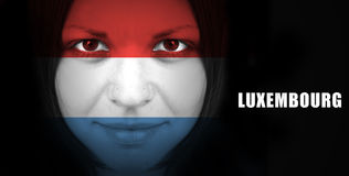 Flag of Luxembourg Royalty Free Stock Images