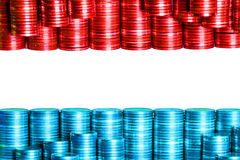 Flag luxembourg luxemburg. Build with coins Royalty Free Stock Photos
