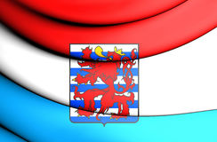 Flag of Luxembourg Province, Belgium. Royalty Free Stock Image