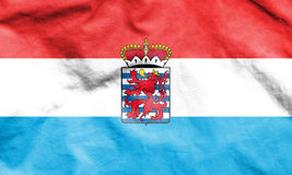 Flag of Luxembourg Province, Belgium. Royalty Free Stock Photo