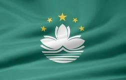 Flag of Macau stock photography